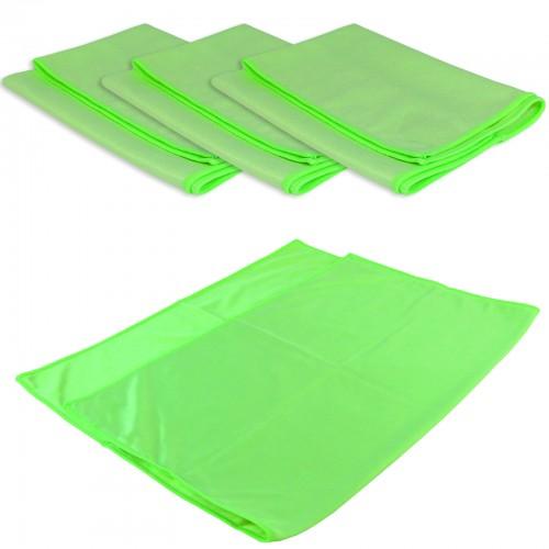 GLAS- & SPIEGELTUCH PROFI XL 4er Set - 50 x 70 cm - grün