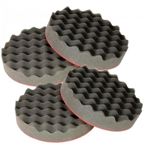 polierscheibe soft gewaffelt 150 x 30 mm polierhaube 4er set brestol. Black Bedroom Furniture Sets. Home Design Ideas