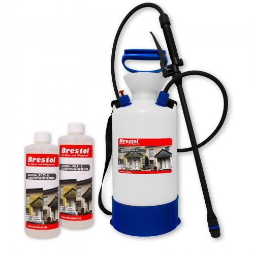 Algen-, Pilz & Flechtenentferner 2x 1000 ml + 6 Liter Drucksprüher