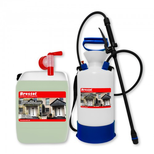 Algen-, Pilz & Flechtenentferner 5 Liter Kanister + 6 Liter Drucksprüher