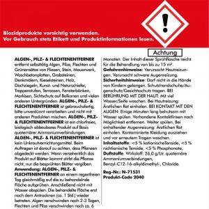 Algen-, Pilz & Flechtenentferner 4x 750 ml gebrauchsfertig