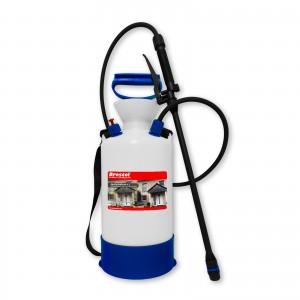 DRUCKSPRÜHER 6 Liter - ideal für Algenentferner, Moosentferner, Flechtenentferner oder Pilzentferner - mit Viton-Dichtung - säurebeständig
