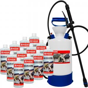 Algen-, Pilz & Flechtenentferner 12x 1000 ml + 6 Liter Drucksprüher