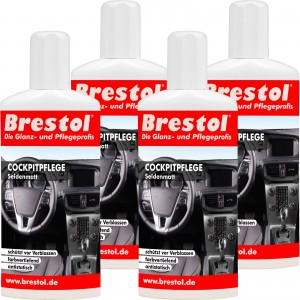 COCKPITPFLEGE SEIDENMATT 4x 250 ml - Kunststoffpfleger