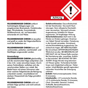 FELGENREINIGER CHROM 750 ml - gebrauchsfertig