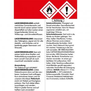 LACKVERSIEGELUNG SET1 - 1000ml + Zubehör - Hartwachspolitur mit natürlichem Carnaubawachs