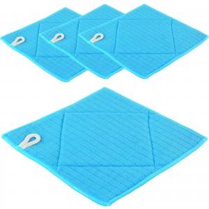 Microfaser SPÜLTUCH 4er Set - 20 x 20 cm - blau