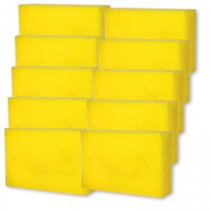 POLIERSCHWAMM 10er Set gelb für alle Polituren