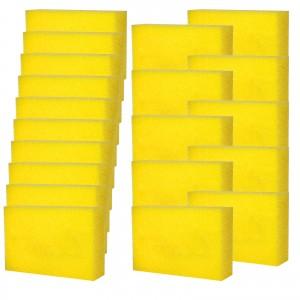 POLIERSCHWAMM 20er Set gelb für alle Polituren