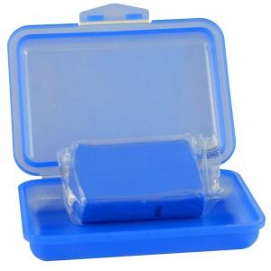 REINIGUNGSKNETE SET1 blau - inkl. Gleitmittel und Poliertuch - Lack-Knete - Clay Bar