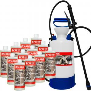STEIN- & FUGENREINIGER 12x 1000 ml + 6 Liter Drucksprüher