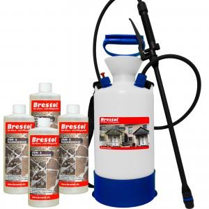 STEIN- & FUGENREINIGER 4x 1000 ml + 6 Liter Drucksprüher