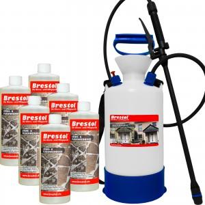 STEIN- & FUGENREINIGER 6x 1000 ml + 6 Liter Drucksprüher