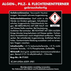 Algen-, Pilz & Flechtenentferner 2x 750 ml gebrauchsfertig