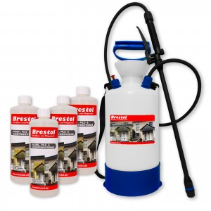 Algen-, Pilz & Flechtenentferner 4x 1000 ml + 6 Liter Drucksprüher