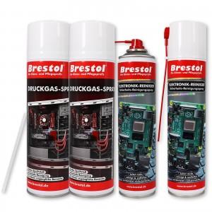 Elektronik-Reiniger 400 ml + Druckgas-Spray 500 ml 2er Set