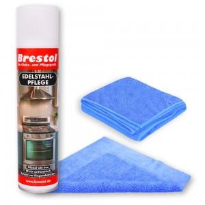 Edelstahlpflege Spray 400 ml Tücher Set01