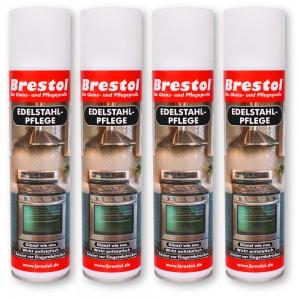 Edelstahlpflege Spray 4x 400 ml