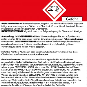 INSEKTENENTFERNER SET1 - 750 ml gebrauchsfertig + Zubehör