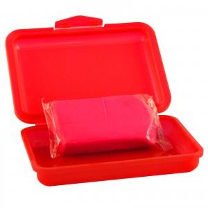 REINIGUNGSKNETE rot - scharf (abrasiv) 200g inkl. Dose - Clay Bar Polierknete Lackknete