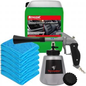 TORNADOR Black Z-020RS - Leder- & Kunststoff Set gebrauchsfertig